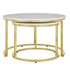 crestview collection astronomy marble nested tables gold