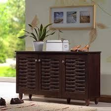 Strick   Bolton Vadym 3 door Shoe Cabinet  Retail 145 99 wenge