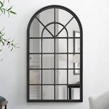 copper Grove 50 inch arched window pane black
