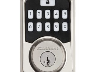 Kwikset Aura Satin Nickel Bluetooth Keypad Entry Smart lock Deadbolt Smartkey