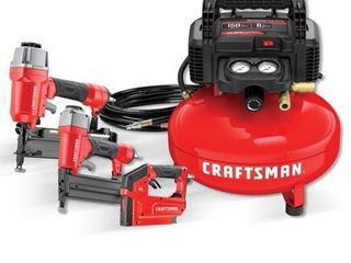 Craftsman Tools 6 Gallon Portable Electric Pancake Air Compressor  3 Tools Included