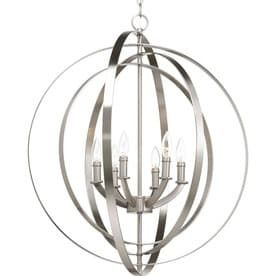 Progress lighting Equinox 27 75 in Brushed Nickel Multi light Cage Pendant