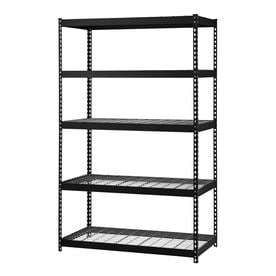 Edsal MROP4824W5B Steel Storage Rack  5 Adjustable Shelves  5000 lb  Capacity  72  Height x 48  Width x 24  Depth  Black