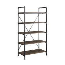 allen and roth 5 shelf bookcase reclaimed rustic brown finish
