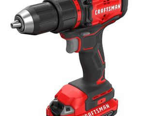 Craftsman 20V MAX 20 volt 1 2 in  Brushless Cordless Compact Drill Driver Kit 1900 rpm 2 speed
