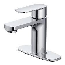 Jacuzzi Primo Chrome 1 handle Single Hole 4 in Centerset Watersense Bathroom