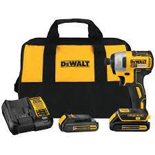 Dewalt Dcf787c2 20v Max Brushless 1 4  Impact Driver Kit W  2x Battery   Charger