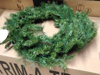 holiday living prelite aspen pine wreath
