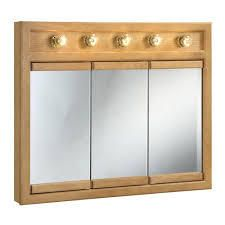design house richland 36 inch 5 lt tri cabinet nemeg oak finish mirror