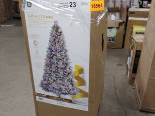 ge Christmas tree 7 ft tall prelite led candle wood pine