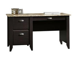 Sauderi1 2 Samber 54 W Computer Desk  Granite Jamocha Wood