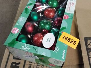 holiday living 28 ct glass ornaments