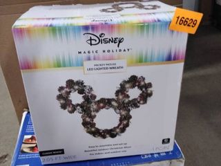 disney magic holiday mickey mouse led lighted wreath classic white