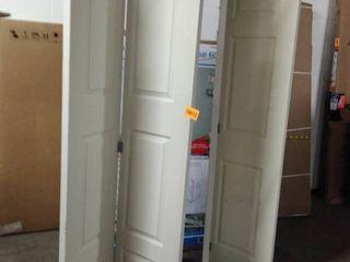 bifold doors 2 pc white 80 inch tall