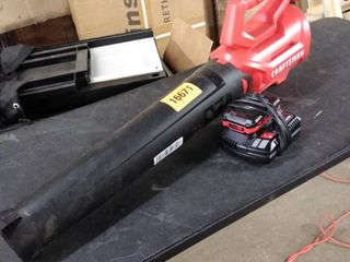 craftsman cordless blower with charger and battery