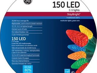 GE Staybright lED C5 Multi Color Christmas lights  150 Count