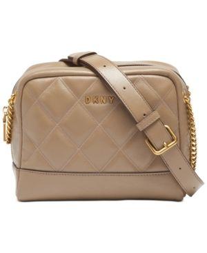 Dkny Sofia Double Chain leather Shoulder Bag Retail   248 00