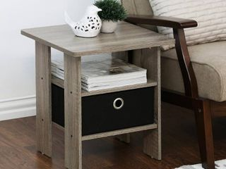 Furinno Andrey End Table Night Stand with Bin Drawer