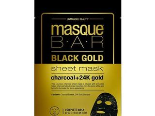 5  Masque BAR Black Gold Sheet Mask with 24k Gold  Charcoal Powder  and Bamboo   Enriched Pore Refiner to Brighten Skin   Made in Korea