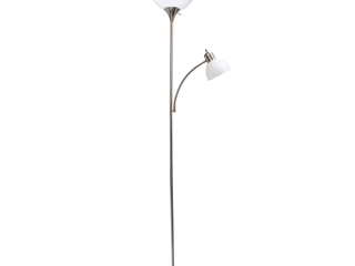 Simple Designs Floor lamp with Reading light  Brushed Nickel