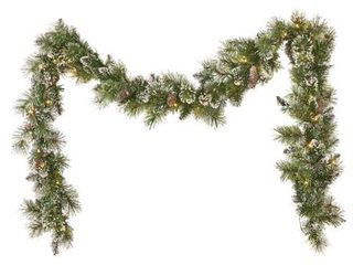 9 foot Spruce Clear lED Artificial Christmas Garland by Christopher Knight Home   led   clear