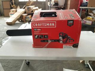 Craftsman 18 in 42cc 2 cycle Gas Chainsaw 18in 42cc Bar Performance Chainsaw Has Compression