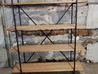 Wood and Metal Rustic 4 Tier Shelf