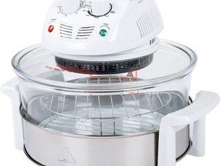 Classic Cuisine 12 17 Quart 1200W Halogen Tabletop Oven  White