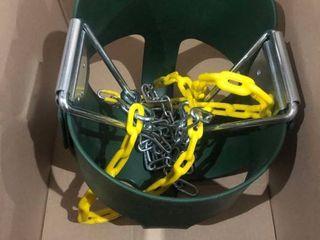 Green   Yellow Childs Swing
