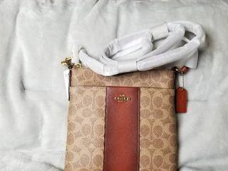 Handbag COACH Cbh Ctd Sg Msngr Xbd 41321 B4NQ4 Tan Rust Retail   148 00