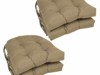 Blazing Needles 16 inch U Shaped Dining Chair Cushions  Set of 4    16  x 16