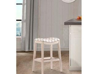 white  wirebrush  the grey barn sennybridge Non Swivel White Counter Stool  Retail 112 49