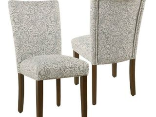 homepop parsons dining chairs set of 2 grey floral Retail 188 99