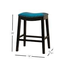 coppergrove divjake 26 inch bonded leather saddle counter stool Teal  Retail 125 46