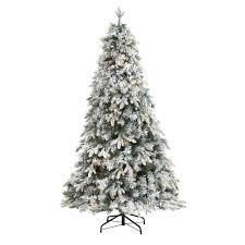 flocked vermont mixed pine christmas tree with 300 clear led Green   6  Retail 173 49