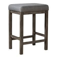 Hayden Way Grey Wash Upholstered Console Stool  Retail 115 99
