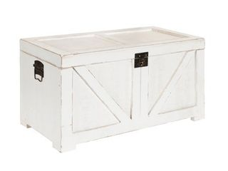 Kate and laurel Cates Blue Wood Trunk  Retail 139 49
