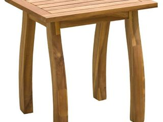 teak finish   lucca Outdoor Acacia Wood Side Table by Christopher Knight Home