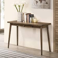 Walnut  Furniture of America Abi Mid Century Walnut Solid Wood Sofa Table Retail 187 49