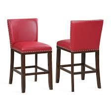 Greyson living Toledo Counter Stools Red  Set of 2  Retail 229 49