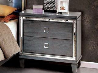 Furniture of America Drow Contemporary Grey Solid Wood Nightstand  Retail 272 99
