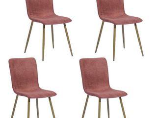Carson Carrington Viken Mid century Upholstered Dining Chairs  Set of 4  Retail 255 99