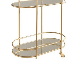 Piper Goldtone Serving Cart by abbyson  Glass   Gold  Retail 242 27