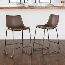 Carbon loft Prusiner Faux leather Bar Stool  Set of 2  Retail 179 99