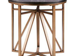 Madison Park Kayden Antique Bronze End Table  Retail 164 49