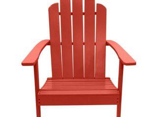 Red  Hillside Outdoor Patio Acacia Adirondack ChairRetail 137 49