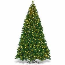 9 Foot   Green  Artificial christmas tree with lED lights Retail 211 99