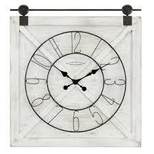 27 x 2 x 29 in Gray FirsTime   Co  Farmstead Fir Wood Barn Door Wall Clock Retail  107 49