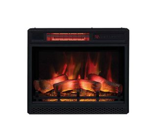 Black  ClassicFlame 23  3D Infrared Quartz Electric Fireplace Insert  Retail 209 99