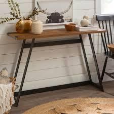Carbon loft Kenyon Metal Wrap Entry Table  Retail 149 49 reclaimed barnwood